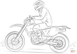Dirt Bike coloring page | Free Printable Coloring Pages