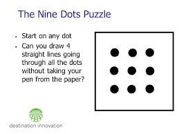 After you've mastered drawing horizontal dotted lines, try to do the. Creative Leadership Workshop Paul Sloane The Nine Dots Puzzle Start On Any Dot Can You Draw 4 Straight Lines Going Through All The Dots Without Ppt Download