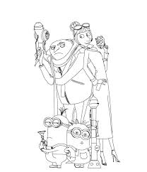Small Picture Awesome Despicable Me Coloring Pages Cartoon Coloring pages of