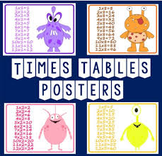 CD TIMES TABLES A4 POSTERS TEACHING RESOURCES KS1-2 DISPLAY ...