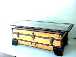 old trunk coffee table vintage tables brilliant brand new trunks inside antique furniture