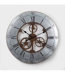 open dial gear wall clock wall clocks