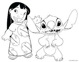 Lilo And Stitch Coloring Pages Christmas Color Artigianelliinfo