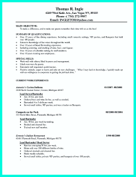 Server Resume Job Description Server Job Description Resume Fresh