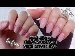 polygel nails dip powder nails