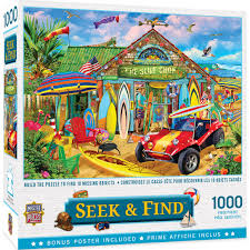 They always look so smug when they have finished one, so why not give them something to really get their old grey matter. Seek Find Beach Time Fun 1000 Piece Jigsaw Puzzle
