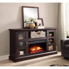 whalen a fireplace console for tvs up to 70 dark rustic brown com