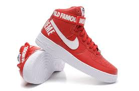 nike shoes air force red. nike air force 1 high supreme sp red white larger image shoes l