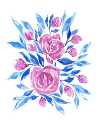 blue and pink floral watercolor print no 11 watercolor floral art watercolor flowers abstract watercolor floral wall art floral artwork on watercolor floral wall art with blue and pink floral watercolor print no 11 watercolor floral art