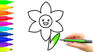 flower coloring book and drawing colouring videos for kids with