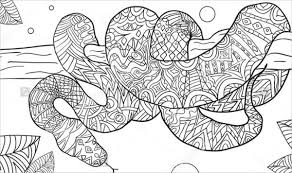Small Picture 9 Snake Coloring Pages Free Premium Templates