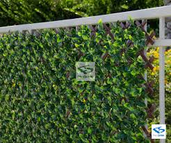 Compass Home Expandable Faux Ivy Privacy Fence With Lights Expandable Faux Ficus Trellis Privacy Fence