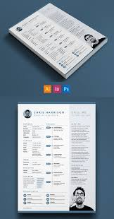Free Single Page Resume Template PSD