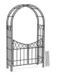 es garden arch with gate gardeners