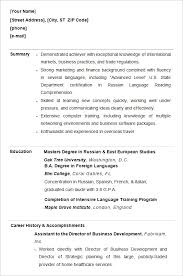 Resume Templates College Student