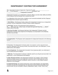 free independent contractor agreement