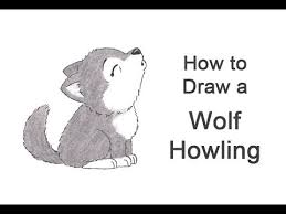 baby wolf howling drawing. Interesting Wolf How To Draw A Wolf Howling Cartoon On Baby Drawing
