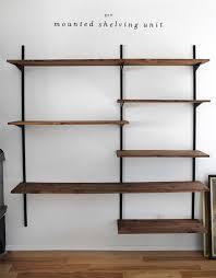 diy simple wall shelving dwell with dignity for mounted track design 1