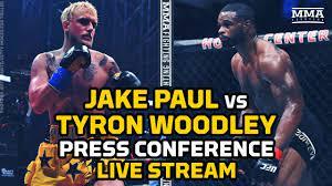 Jake Paul vs. Tyron Woodley Press ...