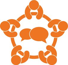 conference clipart round table meeting discussion icon