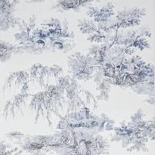 Gold Toile Blue Wallpaper | Departments | DIY at B&Q