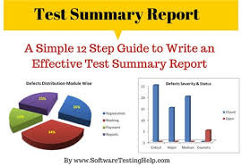 In Hp Alm What Does The Pie Chart How To Write An Effective Test Summary Report Download