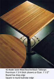 restaurant butcherblock tabletops econpmy preminum