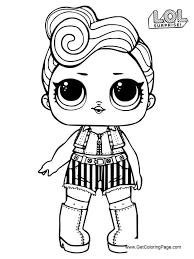 Lol Surprise Dolls Coloring Pages Series 3 Printable Get Coloring Page