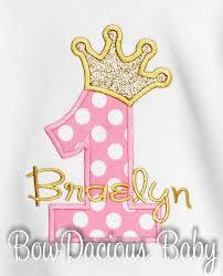 Royal Princess Birthday Shirt Or Bodysuit Baby Girl First Birthday