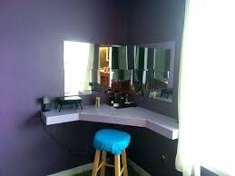 wooden makeup vanity how small rustic plans