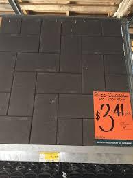 standard brick size paver