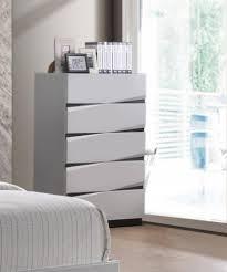 global furniture scarlett modern white gloss finish king bedroom set 5 pcs for