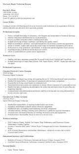 Sample Resume For Electronics Technician Electronic Technician Resume Sample Resume Electronic Technician