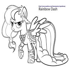 Rainbow Dash Coloring Pages Image Coloriage