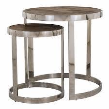 lennox round corner table set of 2