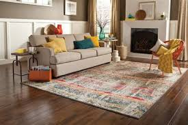 simple area rug placement