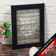 personalized favorite phrase typography print on custom wall art quotes with personalized wall art quote prints canvases chatterbox walls