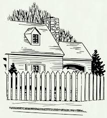 picket fence drawing. Fence Drawing. Exellent Chain Link Drawing At Getdrawings Com Free For Personal Use Picket L