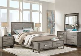gray king bedroom sets. abbott gray 7 pc king panel bedroom with storage sets