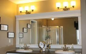 bathroom mirror crown molding