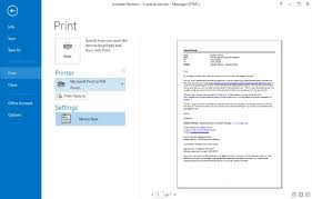 How To Save Outlook Email As Pdf