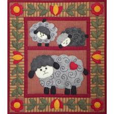 The Twin Lambs Wall Quilt Kit is an applique quilt kit from ... & Quilt kits Adamdwight.com