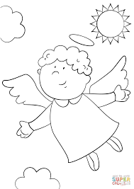 Small Picture Cute Angel Coloring Pages To PrintAngelPrintable Coloring Pages