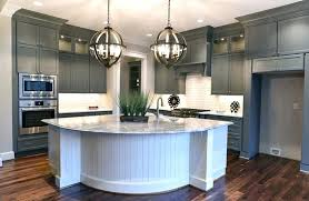 best backsplash with gray cabinets kitchen with gray cabinets white island with white subway tile and