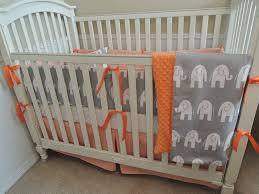 orange and gray bedding sets orange houndstooth and gray elephants babylovin orange crib bedding set blue orange and gray bedding sets