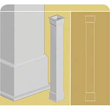 Decorative 4x4 Post Wraps Exterior Column Wraps