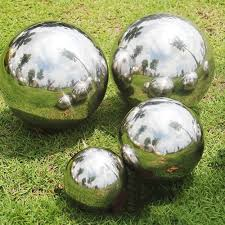 4pc stainless steel mirrored gazing