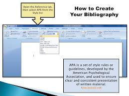 Apa Referencing In Microsoft Word 2007