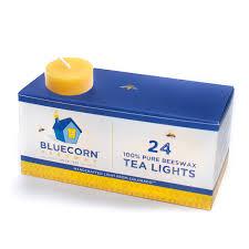 Beeswax Tea Lights Amazon Bluecorn Naturals 100 Pure Beeswax Tea Light Refills No