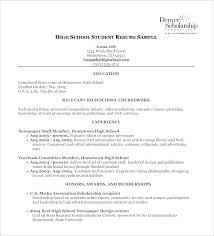 best high school resumes work resume for high school student wikirian com